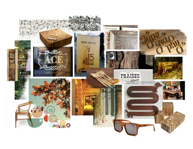 Mood Boards Typography Mood Board in Earth Tones for Graphic Design Sunglasses Accent Chair